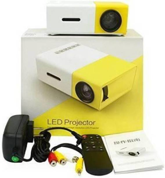 IBS UC 500 PROJECTOR, 400LM Portable Mini Home Theater LED Projector with Remote Controller, Support HDMI, AV, SD, USB Interfaces (Yellow) 3500 lm LED Corded Portable Projector