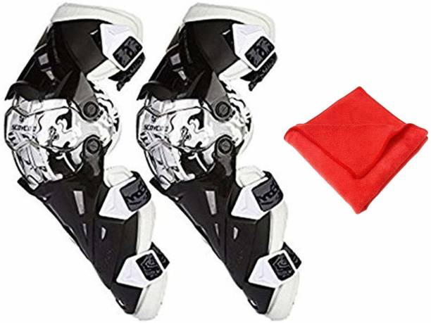 ALLEXTREME 2nd Generation Pro-X Knee Pads Adults Motorbike Alloy Steel ATV Motocross Elbow Knee Shin Armor Racing Protect Guard Pads Accessories Knee Guard, Elbow Guard XL Black, Silver