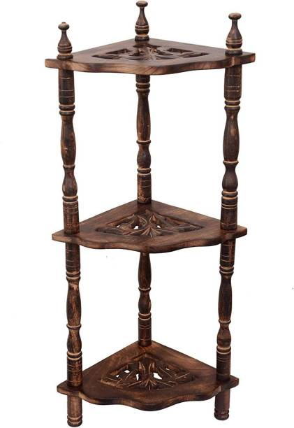 Living Home Styles Solid Wood Corner Table