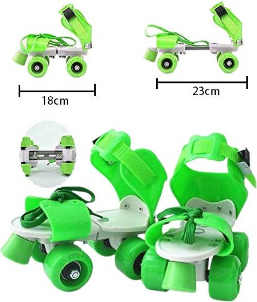 Bestie Toys Super Quality Adjustable Quad Roller Skates Inline Skates Suitable for Age Group 6 to 12 Years Quad Roller Skates - Size 6 to 12 UK