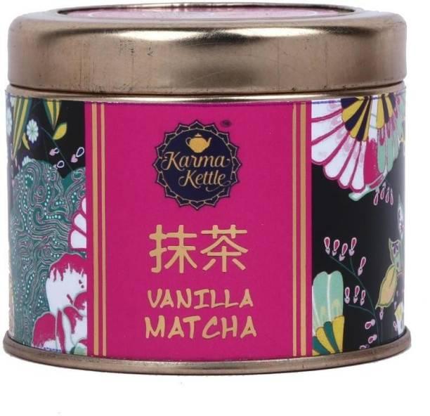 Karma Kettle Vanilla Matcha Green Tea, Stone Ground Green Tea Powder Matcha Tea Tin