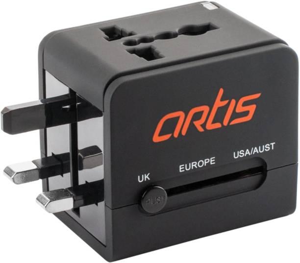 artis AR-UV200 Universal Converter Charger Plug With 2.1A USB Worldwide Adaptor