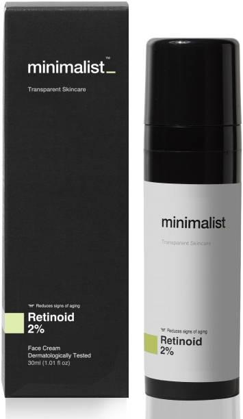Minimalist 2% Retinoid Anti Aging Cream for Wrinkles & Fine Lines, 30 ml | Super Light Night Face Cream (Emulsion) for Women & Men