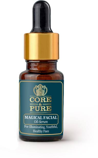 CORE & PURE Magical Facial Oil Serum- Promotes Radiant, Youthful and Healthy Face  Natural Essential Oils Infused, Ayurvedic 