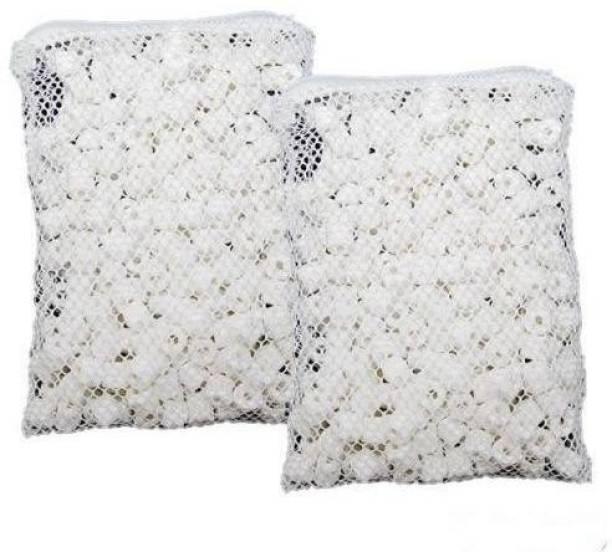 Petzlifeworld Bio Ceramic Rings in 2 Filter Media Bags for Aquarium (500G) Pack Of 2 Undergravel Aquarium Filter