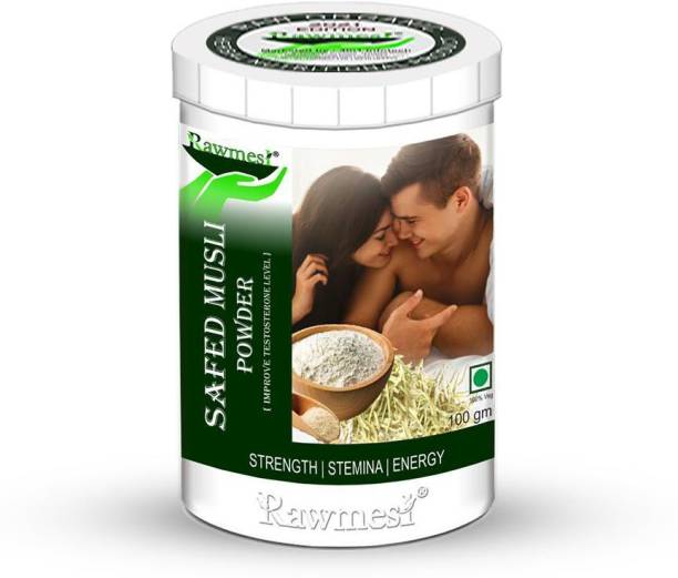 Rawmest Pure Organic Ayurvedic Safed Musli Powder For improves strength,stamina & Power