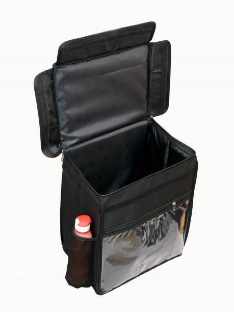 Quaffor Most Popular Food /Pizza/ Grocery Delivery Bag Black Color 16*18*12 38 L Backpack