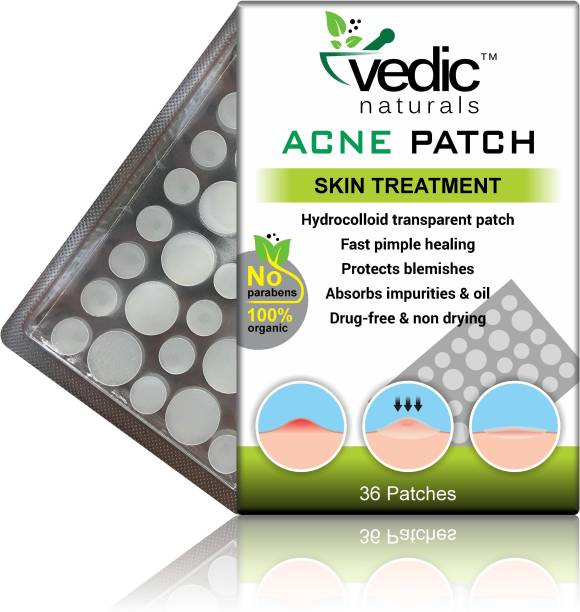 Vedic Naturals Acne Patch For Skin Treatment cover with 100% Hydrocolloid transparent patch, Fast pimple healing,-36 patches