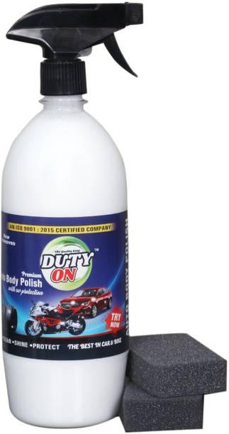 DUTYON Liquid Car Polish for Exterior, Dashboard, Metal Parts, Tyres, Leather, Chrome Accent, Bumper