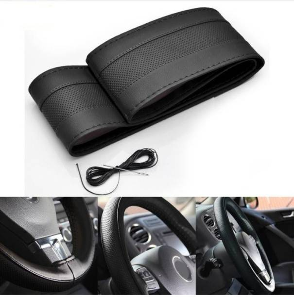 S mangalam Hand Stiched Steering Cover For Datsun Eco Sport, WagonR, Santro, Sport, New Dzire