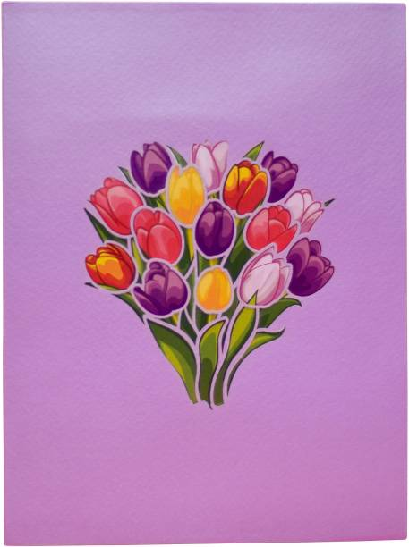cardpop Tulip Bouquet 3D pop up Greeting Card