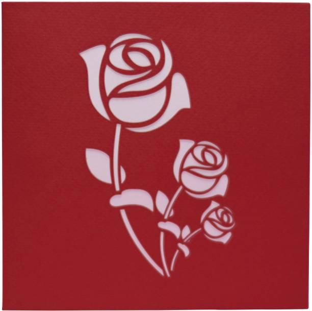 cardpop Red Rose Bouquet 3D pop up Greeting Card
