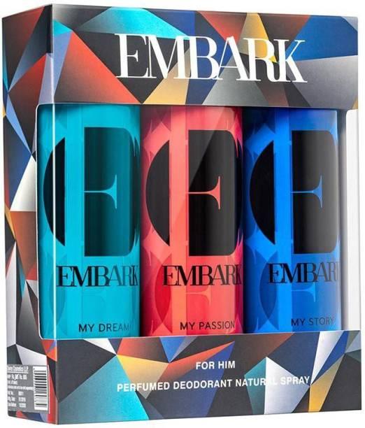 EMBARK 3 Deo Pack - For Men Perfume Body Spray  -  For Men