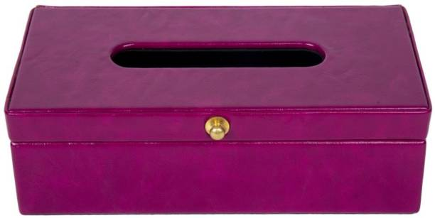 Thylable 1 Compartments PU Leather Tissue Box