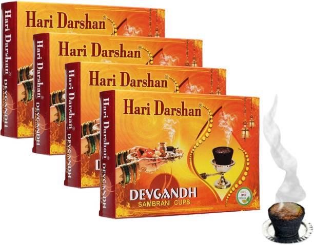 Hari Darshan Sambrani Cup 100% Pure Natural   Non-Toxic & Non-Charcoal Guggul Dhoop