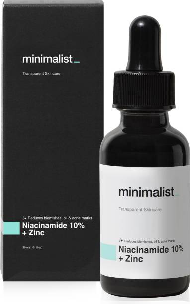 Minimalist 10% Niacinamide Serum For Face with Zinc for Acne, Acne Marks & Blemishes   Oil Balancing Serum For Oily Acne Prone Skin