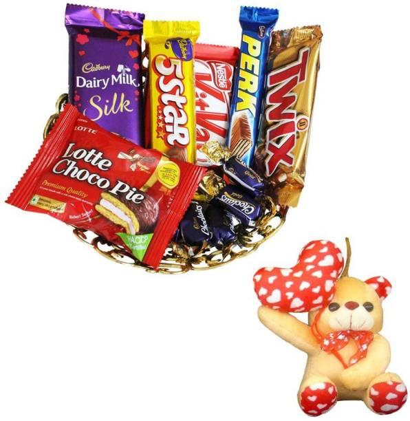 Cadbury Anniversary Gift and Chocolate Gift Basket | Valentine Surprise Gift Hamper Combo