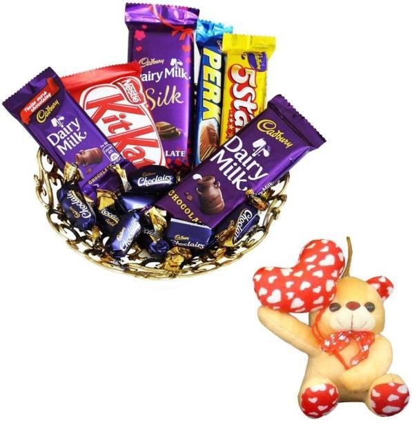 Cadbury Anniversary Gift and Dairy Milk Chocolate Hamper | Valentine Surprise Gift Hamper Combo