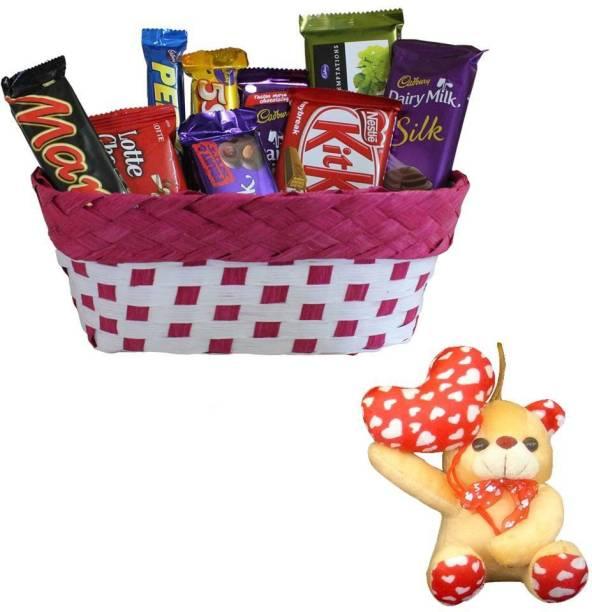 Cadbury Teddy With Chocolate Gift Hamper | Valentine Surprise Gift Hamper Combo
