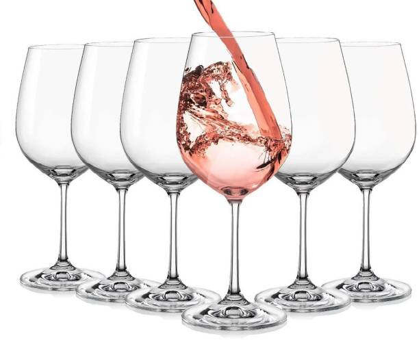 Eviqe (Pack of 6) big wine glass set-6 Glass (350 ml, Glass) Glass Set