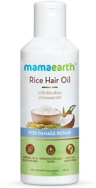 MamaEarth Rice Hair Oil with Rice Bran & Coconut Oil For Damaged, Dry and Frizzy Hair Hair Oil