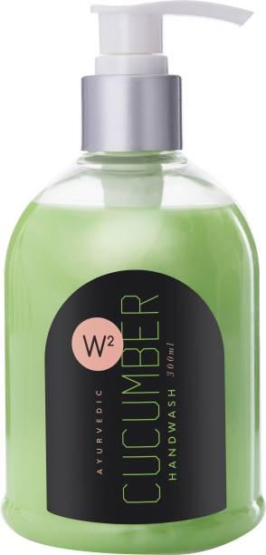 W2 Ayurvedic Cucumber Hand Wash 300 ML Hand Wash Pump Dispenser