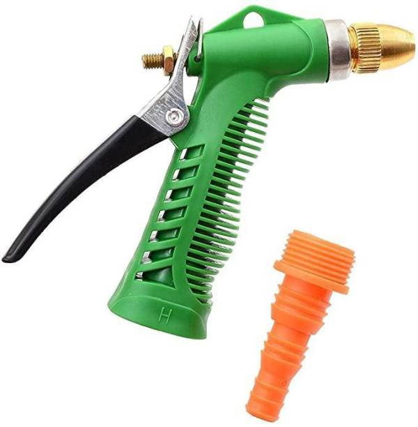 AANOVER Water Spray Gun - Plastic Trigger and Brass Nozzle High Pressure Water Spray Gun for Car/Bike/Plants - Gardening Washing Gun Hose Pipe