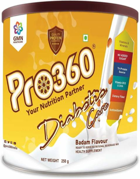 PRO360 Diabetic Protein Powder Nutrition Health Drink For Diabetes Care - No Added Sugar Nutrition Drink