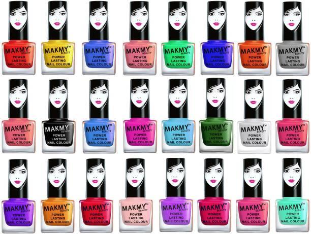 MAKMY BEAUTY Exclusive Nail Polish Set Of 24 Pcs.Multicolor Set-MBNP2D27 Multicolor