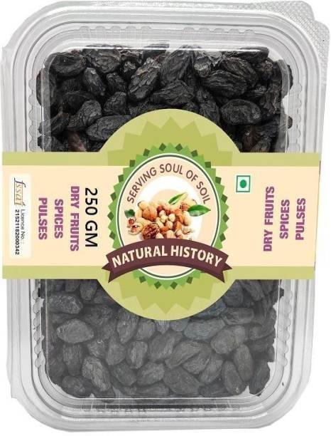 natural history Brand - Black kishmis/Raisin 250 Gm (Pack Of 1 ) Raisins