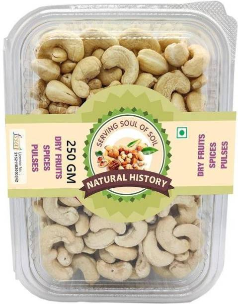 natural history Brand - W-320 Cashewnuts 250 Gm (Pack Of 1 ) Cashews