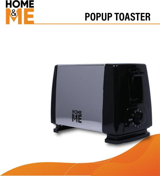 Home&ME HM-PT-19-02 750 W Pop Up Toaster