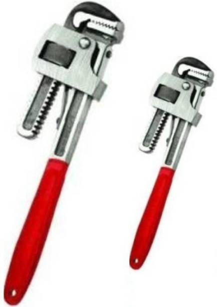ANIKH 10 INCH PIPE WRENCH WITH 18 INCH PIPE WRECHN (COMBO) Single Sided Pipe Wrench