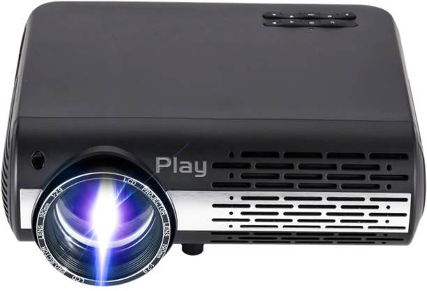 PLAY ™ 4k HD LED Latest 6.0 Android Wi-Fi Projector with Bluetooth 4.0 3D Stereo Sound 3D Surround Portable Projector