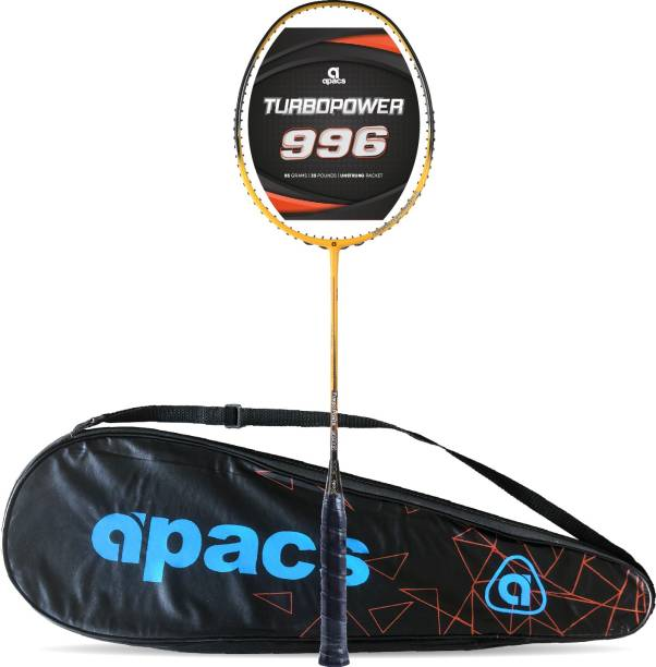 apacs Turbo Power 996 (Full Graphite, 30LBS) Yellow, Black Unstrung Badminton Racquet
