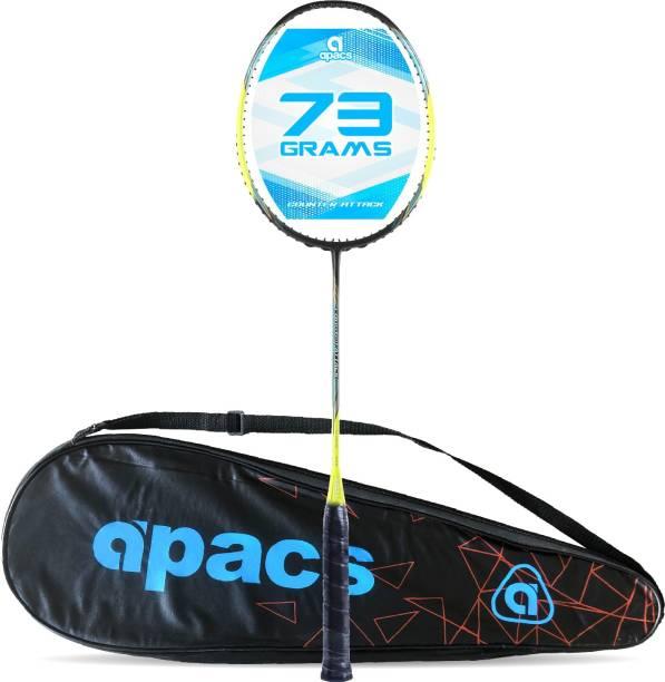 apacs Counter Attack (73G, 35LBS) Green, Black Unstrung Badminton Racquet