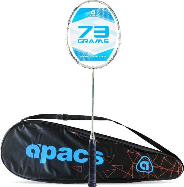 apacs Counter Attack (73G, 35LBS) White, Blue Unstrung Badminton Racquet
