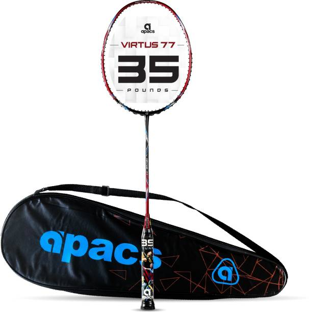 apacs Virtus 77( Full Graphite, 35 LBS) Red Unstrung Badminton Racquet