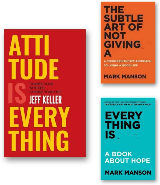 Combo Book 3 : Attitude Is Everything | Everything Is | The Subtle Art Of Not Giving A