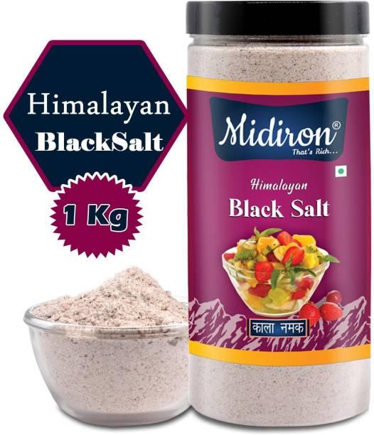 Midiron Himalayan Black Salt, Kala Namak, Low Sodium Black Salt, , Premium Quality Black Salt (1 Kg) Black Salt