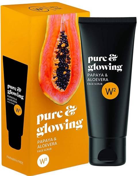 W2 Pure & Glowing Papaya & Aloevera Face  Scrub