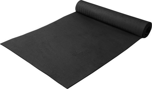 Adrenex by Flipkart Anti Skid Without Strap Black 6 mm Yoga Mat