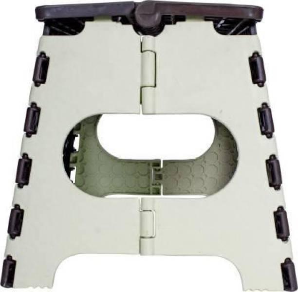 Ravenclaw 12 Inch Lightweight Plastic Folding Step Stool Living & Bedroom Stool (Brown) Stool