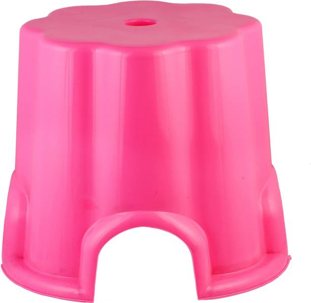 DHARMIK FASHION Plastic Stool for Home Kitchen Small (pink) Kitchen Stool