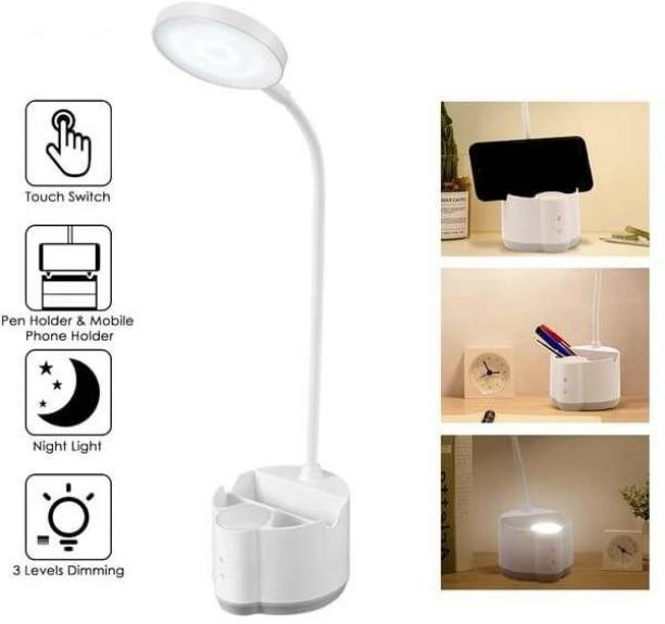 DP.LED 6055 Night Light Mode Humanized Design Creative Light Up Life Multifunctional Pen Holder And A Mobile Phone Holder Smart Touch Switch . SMD LED: 27pcs (Table Lamp) + 8pcs (Night Light) SMD LED Lamp Study Lamp