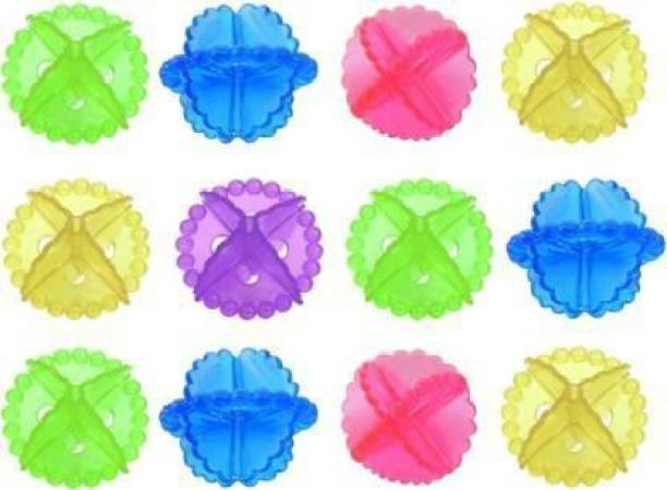 BIRONZA washing machine laundry dryer silicone ball Washing Washer Dry Laundry Balls Machine Ball Durable Clothe Cleaning Ball(set of 12)(multicolor) Detergent Bar