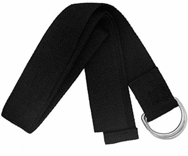 MAIGGA YOGA STRAP WITH D RING BUCKLE,ANTI SWEAT,COTTON STRAP FOR YOGA,HOME/GYM EXERCISES Cotton, Polyester Yoga Strap