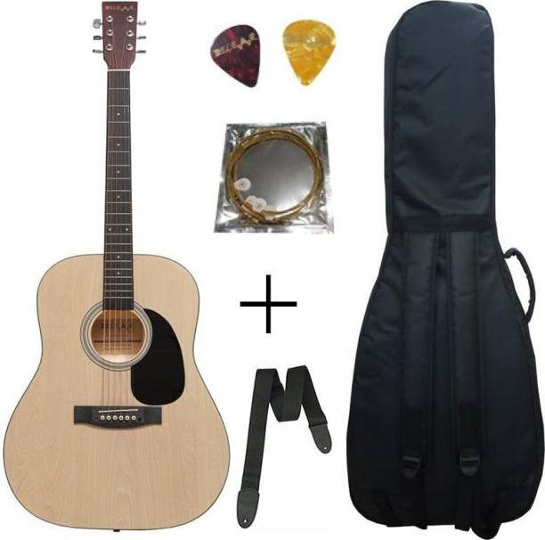 Belear K-610NAT 41 Inch Natural Spruce Dreadnought Acoustic Guitar with Bag String Strap and Picks Combo Rosewood Acoustic Guitar