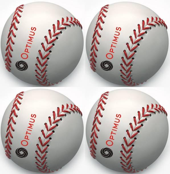 Optimus Pack of 4 Baseball Ball PU Leather Grade 5000 Official Baseball