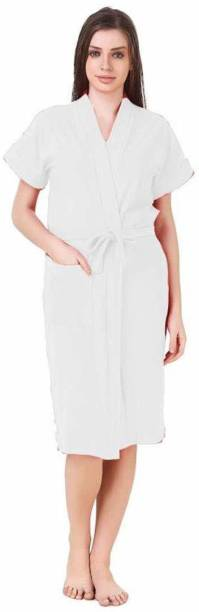 REGMESS White Free Size Bath Robe